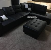 Black**Sectional **SALE** 2pc $559.99 3pc $659.99 **NO Credit Needed**4 Colors Essex