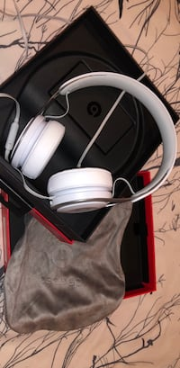 white and red corded headphones Surrey, V3V 1P1