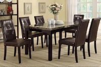 rectangular brown wooden table with six chairs dining set Orlando, 32827
