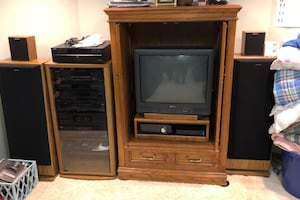 Cabinet and electronics, speakers and remotes BEST OFFER !