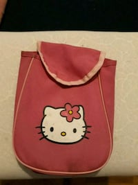 Sac bandoulière rouge imprimé Hello Kitty Lautrec, 81440