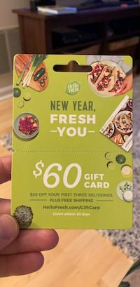 Hello Fresh $60 Gift Card Centreville, 20121