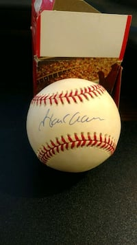 Authentic Hank Aaron signed baseball Chevy Chase, 20815