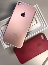 Iphone 7/ AT&T/128 GB / Rose Gold + accessories Sunnyvale, 94085