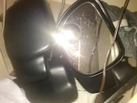 two black vehicle side mirrors