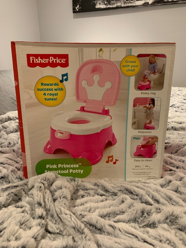 Peachy Pink Princess Step Stool Potty Pabps2019 Chair Design Images Pabps2019Com