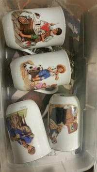 Norman Rockwell coffee cups