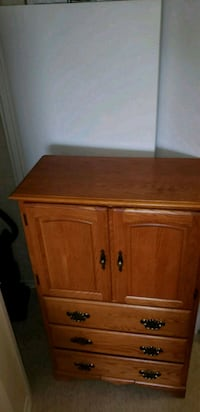 brown wooden 2-door cabinet Toronto, M6N 2H6