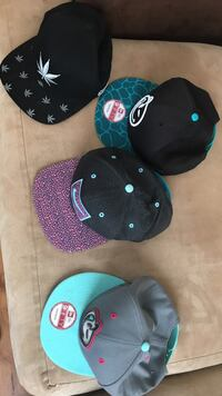 45$For All Assorted snapback caps