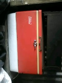 red and black Coleman cooler West Monroe