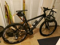black and gray hardtrail bike 218 mi