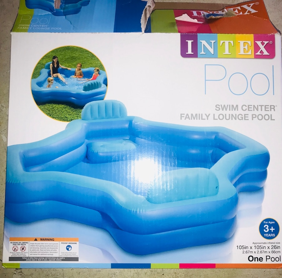 Photo Pool - Intex brand lounge Pool - Used Once!! Excellent condition!