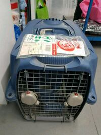 Dog carrier in blue