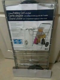 Grocery folding utility shopping cart