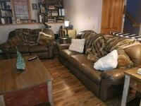 brown leather 3-seat couch West Warwick, 02893