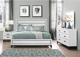NEW 5 PCS KATE BEDROOM SET BY GLOBAL FURNITURE