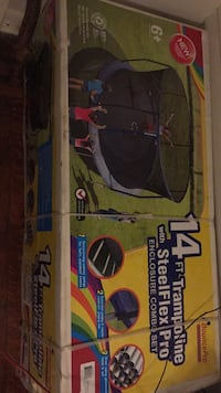 Navy blue and black 14 ft trampoline with Steelflex Pro brand new never assembled Baltimore, 21217