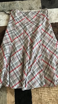 white, red and gray plaid pleated maxi skirt Edmonton, T5Y 3T5