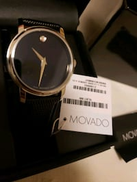 MOVADO Museum Black Dial Black Leather Strap Men's Toronto, M5A 1Y6