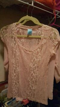 Blush lace shirt