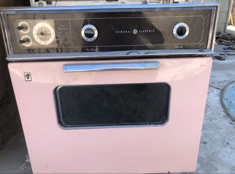 Vintage Pink Electric wall oven- GE 0