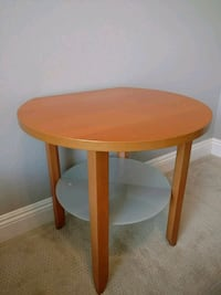 Side table, Frosted glass shelf