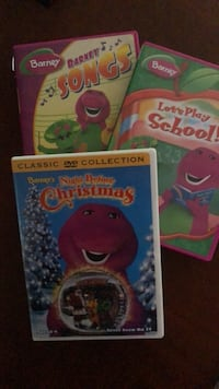 3 Barney movies for kids New Bedford, 02740