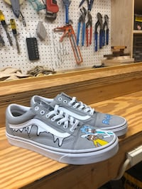 Custom Rick and Morty Vans Mens size 10 Silver Spring, 20904