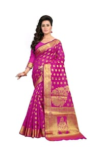 women's pink and white traditional dress