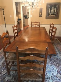 Stickley cherry dining room set w/ 6 chairs & server Oakton, 22124