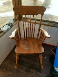Brown wooden rocking chair Simcoe County