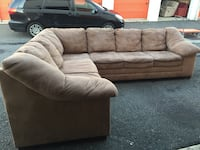 brown fabric sectional sofa with throw pillows 36 km