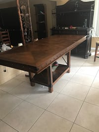 rectangular brown wooden coffee table North Miami, 33161