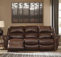 New Leather reclining sofa