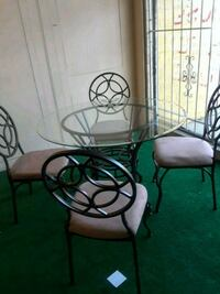 Glass table w 4 chair