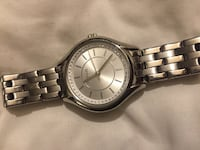 round silver analog watch with silver link bracelet Baltimore, 21206