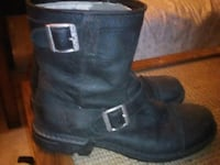 Mens 10 UGG Winter Boots. Black Leather Calgary, T2E