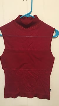 women's maroon sleeveless top Falls Church, 22042