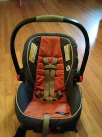 baby's orange and Grey car seat carrier Fayetteville, 28314