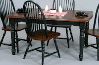 brown wooden dining table set Hoover