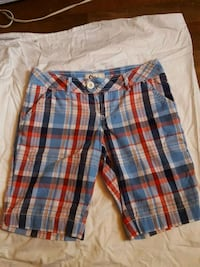 blue, white, and red plaid shorts Brooklyn, 11209