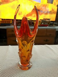 Two toned hand blown vase