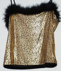 Women - M medium Golden Sparkly top with straps Mississauga
