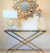 New Golden Zig Zag Console Table