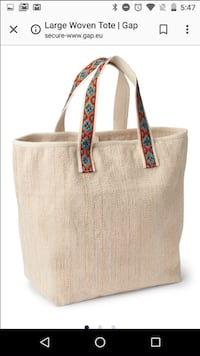 (NEW) Gap Tribal Woven Tote - Never used!