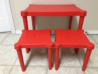 Kid's Red Table with Stools  Abbotsford, V2S 1G9