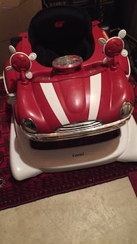 red and white car learning walker 8 mi