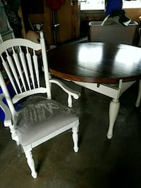 two white wooden windsor chairs 574 mi