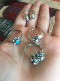 Silver jewelry / Accessorize for  Summer fashion * Sterling Rings Size 5 / each sells for $25 Alexandria, 22311