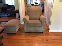 two gray fabric sofa chairs Frederick
